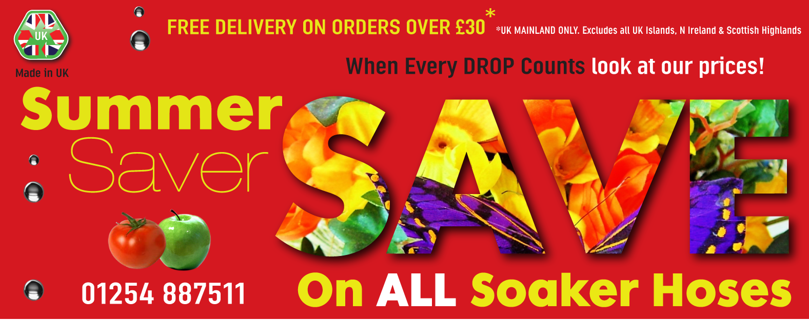 Save Pounds on ALL Our Soaker Hoses
